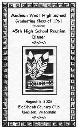 Our Reunion Dinner Booklet